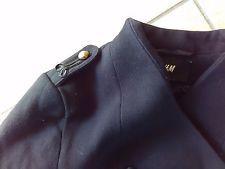 Jacke, Kurzblazer, schwarz, Military Style, Gr. 38