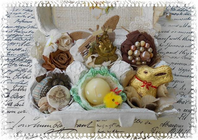 Altered Egg Carton 1 Insides by rainebeau, via Flickr