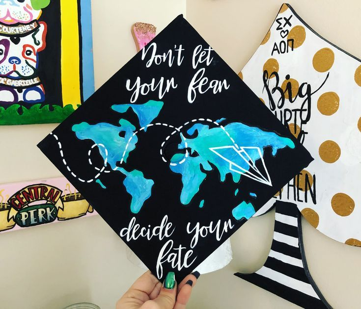 Continent world map with paper plane graduation cap - #cap #Continent #graduation #map #paper