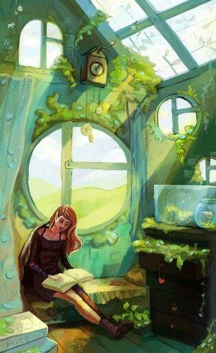Reading Room. Nika (Russian, 1997- ). Nieris on DeviantART.