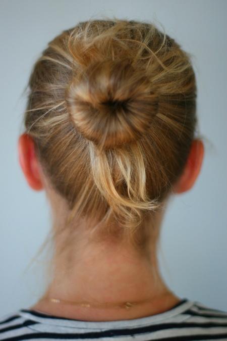 Sock Bun For Fine Hair Haircolour Hair Style Diy Hair