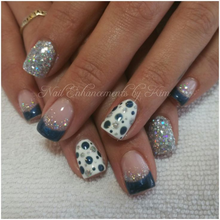 13 best lcn glass gel nail art images on pinterest gel nail gel lcn gel nails christmas nail art blue glitter inspired by others prinsesfo Image collections