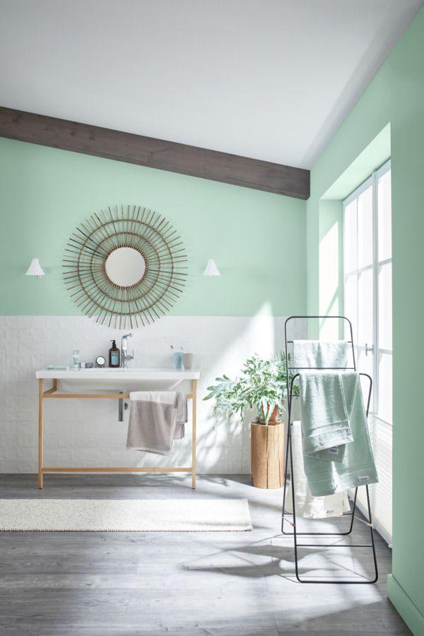 Wandfarbe Grun Farbe Streichen Badezimmer Inspiration Mineralfarbe Naturell Eukalyptusgrun In 2020 Schoner Wohnen Wandfarbe Schoner Wohnen Farbe Wandfarbe Grun