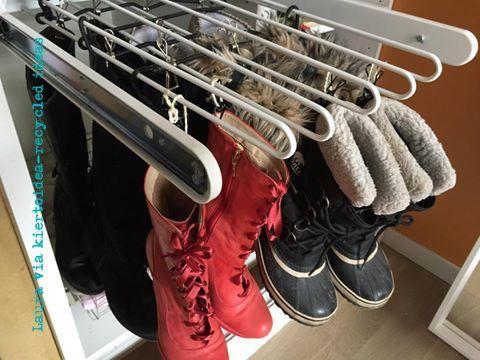 Trouser rack for storing boots!