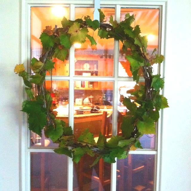 Muscadine vine wreath