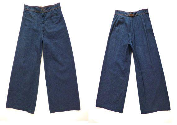 VTG 70s Levis Wide Leg Jeans Ultra High Waist by AGameofTrends
