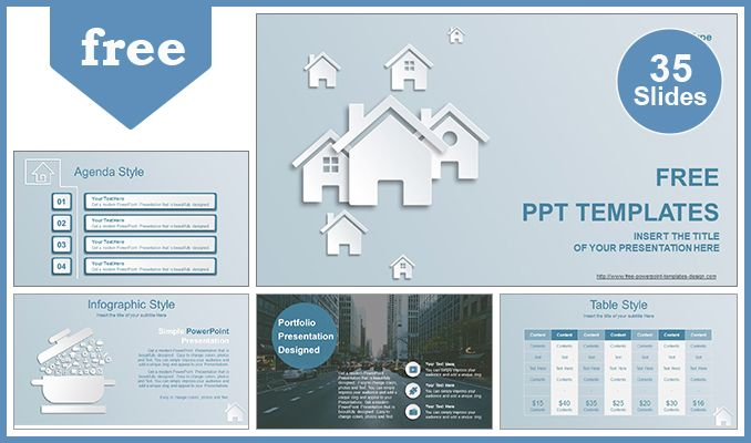 Free Real Estate Agent Powerpoint Template Property Is One Of The Best Things You Can Invest On In The Mode Powerpoint Templates Powerpoint Real Estate Houses