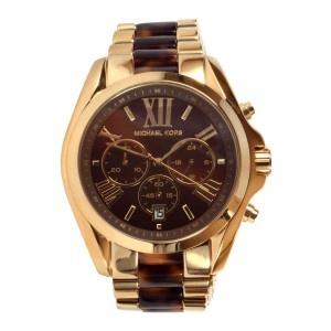 Reloj Michael Kors esfera chocolate correa bicolor dorado carey www.sanci.es