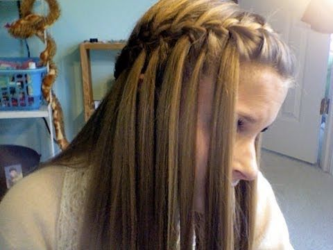 Waterfall Braid (once you get to a certain point drop the piece closest to your face and pick up a new one, keep going along the side of your head). Kind of a cool idea!