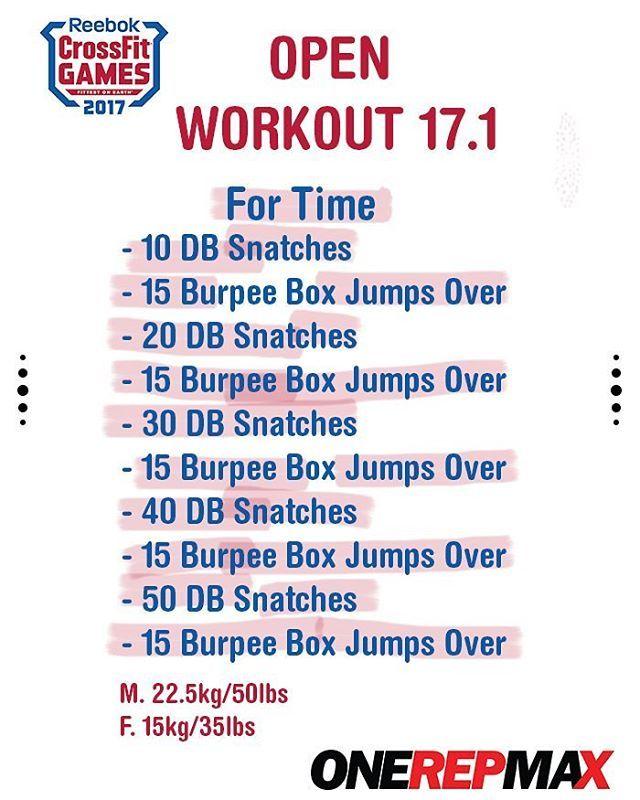 "339 gilla-markeringar, 9 kommentarer - ONE REP MAX (@onerepmaximum) på Instagram: ""#TheOpen #17point1 Workout!! DB Snatches & BurpeeBoxJumps Over  @crossfitgames - #InTheOpen • • •…"""