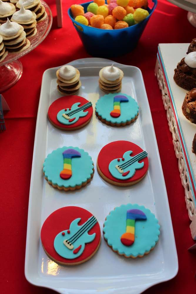 Awesome cookies at a music birthday party! See more party planning ideas at CatchMyParty.com!