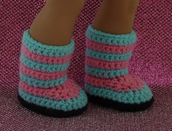 The Kaleidoscope Striped Boots crochet pattern allows you to express your love of color! These fun boots can feature up to 8 different colors. A great way to use up your scrap yarn and brighten up your dolls wardrobe. These boots are perfect for small children. Boots slip on without any buttons, snaps, or small pieces, but stay securely on the dolls foot without slipping off. ****PDF Crochet Pattern Instructions Only- Boots not included**** The PDF pattern will be available as an instant…