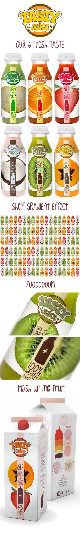 © Marco Grimaldi Tasty Juice #packaging #branding #marketing PD