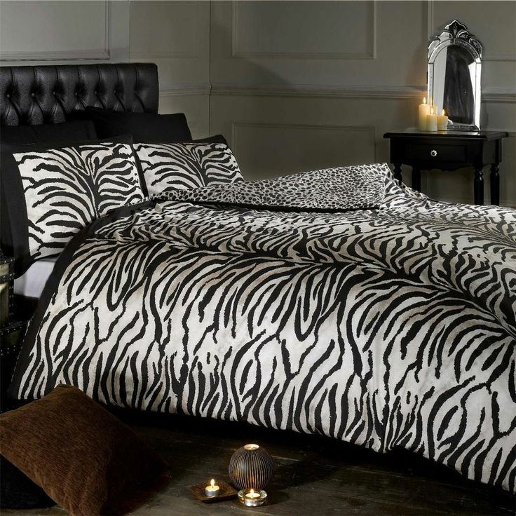 take a walk on the wild side with a striped reversible duvet set duvet setsbed