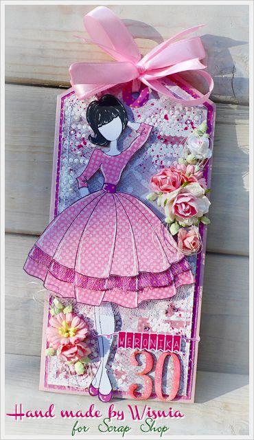 Hand made by Wisnia: 805.Tag z laleczką / Tag with doll
