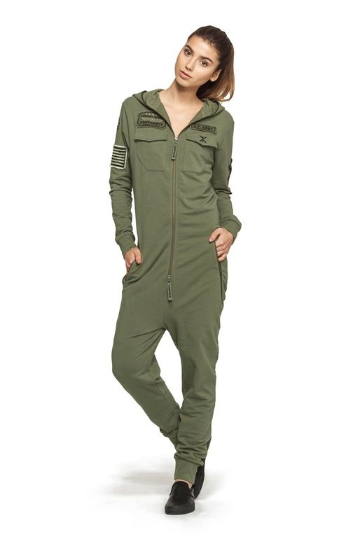 Onepiece Army Jumpsuit Miltary Green