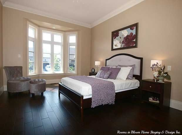A & F Greenfield Homes spec home staged by Rooms in Bloom.
