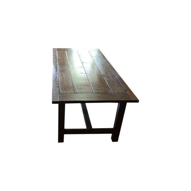 Image of Handcrafted Chestnut Rustic Farm Table
