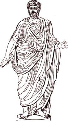 la Toge est l'apanage de la citoyenneté romaine. Les romaines et les habitants de l'Empire qui n'étaient( pas citoyens ne pouvaient pas la porter.