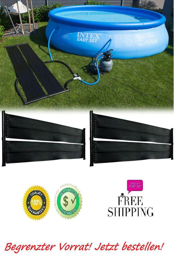 Poolheizung für Pool Solar Solarabsorber Solarheizung 2x Solarmatte 600 x 70cm
