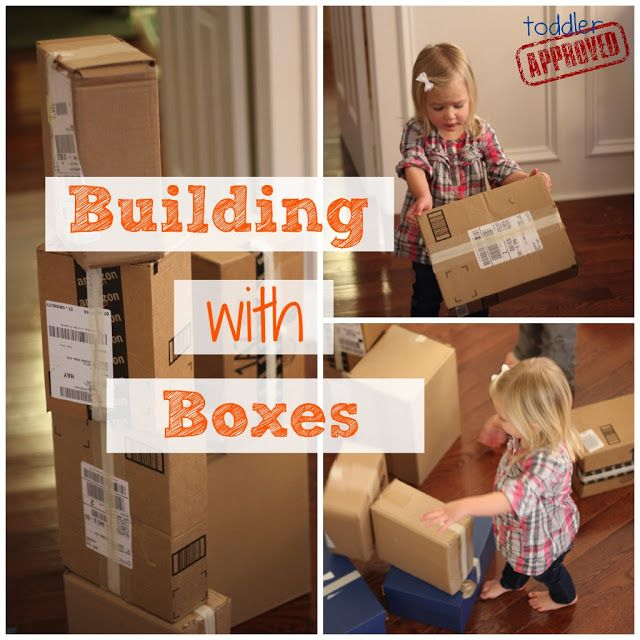 Building with Boxes - my kids LOVE this!!