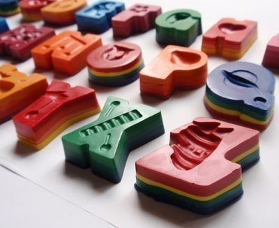 Rainbow Alphabet Crayons by TheScatterBox on Etsy