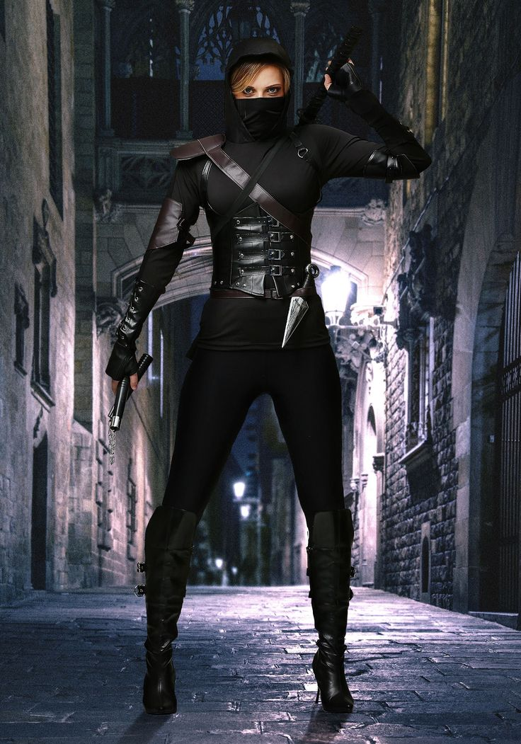 This Women's Ninja Assassin Costume is an exclusive design that will transform you into a sneaky foe.