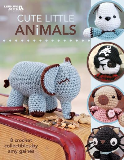 This book if full of adorable animal crochet patterns. They'd be perfect baby shower gifts!