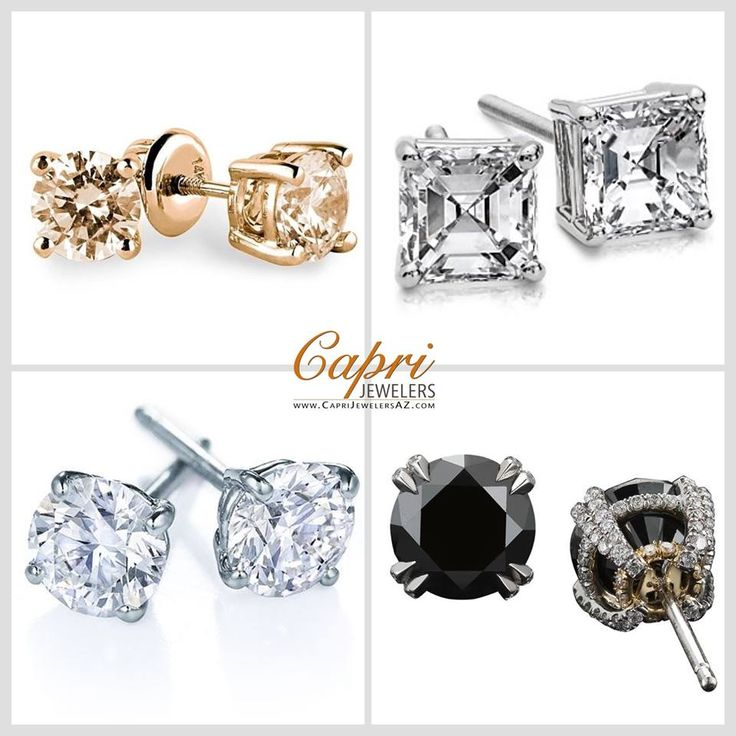 Why settle for one when you can have Two Sexy Sparkling Studs wink emoticon  Have a Terrific Tuesday with Capri Jewelers Arizona ~ www.caprijewelersaz.com