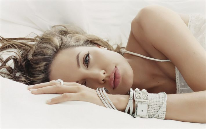 Download wallpapers Angelina Jolie, american actress, JLo, movie stars, blonde, beauty, Hollywood