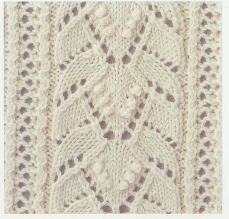 Encaje Knitting Stitch # 50 | Encaje de tejer Puntadas