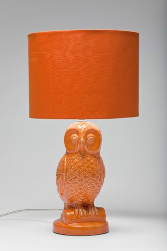 Retro Style Orange Owl Table Lamp with Orange Lamp Shade | eBay Color Trends - Decorating With Orange