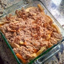 Mixed Fruit Crisp Allrecipes.comCrisps Tops, Mixed Fruit, Yummy Desserts, Cobbler, Heart Food, Crumble Tops, Peaches, Crisps Allrecipes Com, Fruit Crisps Recipe