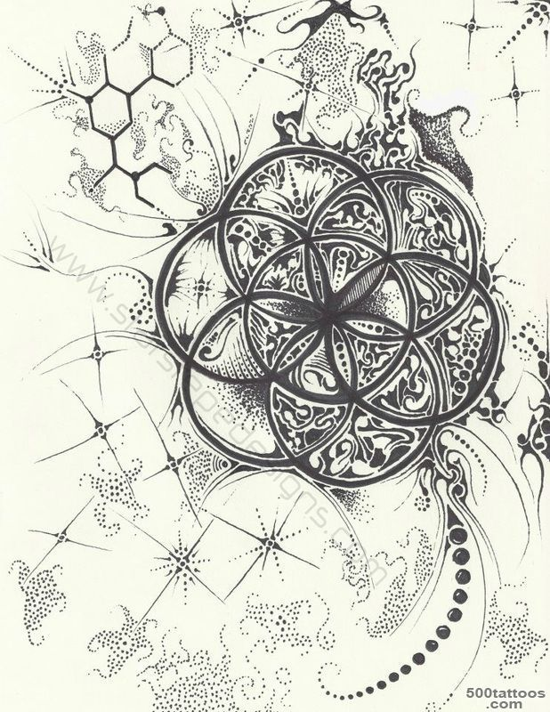 Psychedelic Tattoo Photo Num 12355 Psychedelic Tattoos Flower Of Life Tattoo Geometry Tattoo