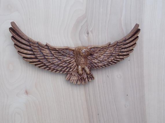 Eagle Wood Carving Bald Eagle Decor Eagle Wall Decor Wood Etsy Eagle Decor Wood Wall Art Decor Carving