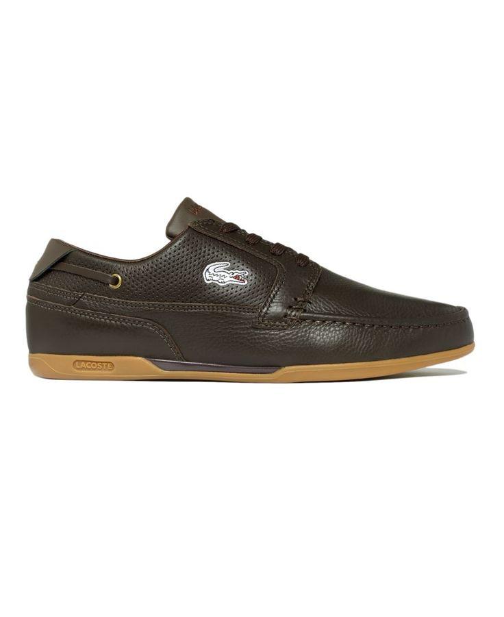Lacoste Shoes, Dreyfus Leather Boat Shoes - Mens Shoes - Macy's