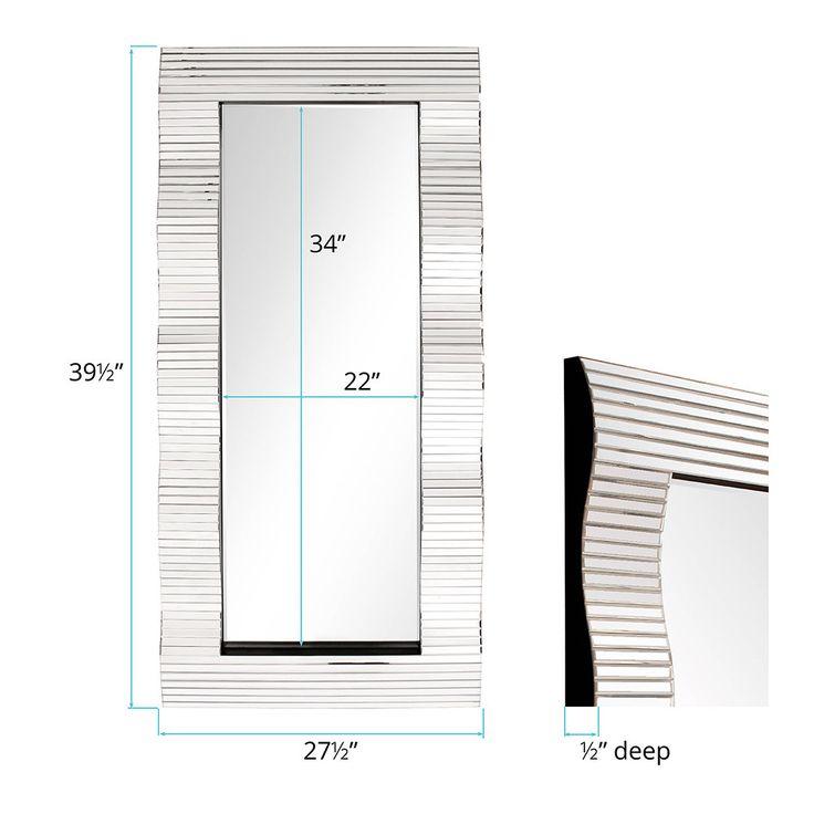 HOWARD ELLIOTT COLLECTION Allan Andrews Waverly Modern Floor Mirror (Size), Clear