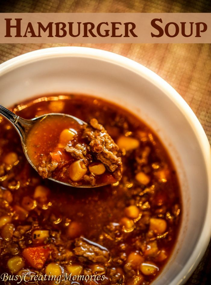 Hearty Hamburger Soup to warm your soul. This hamburger soup recipe is easy to toss together and can be cooked in the slow cooker or stock pot. It also freezes perfectly for a quick meal on a busy day!