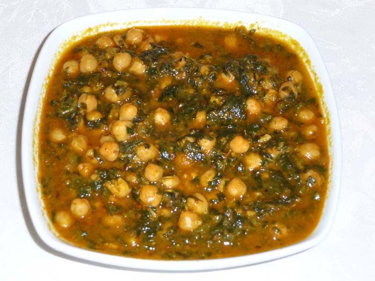 Chole Palak (Chickpeas With Spinach) | Manjula's Kitchen | Indian Vegetarian Recipes | Cooking Videos - I made this without adding extra water; it was very good