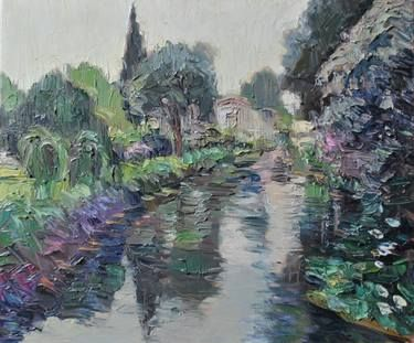 """Saatchi Art Artist ORT Andrea Ortuño; Painting, """"Canale"""" #art"""