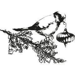 Bullfinch clear stamp by Panduro Hobby
