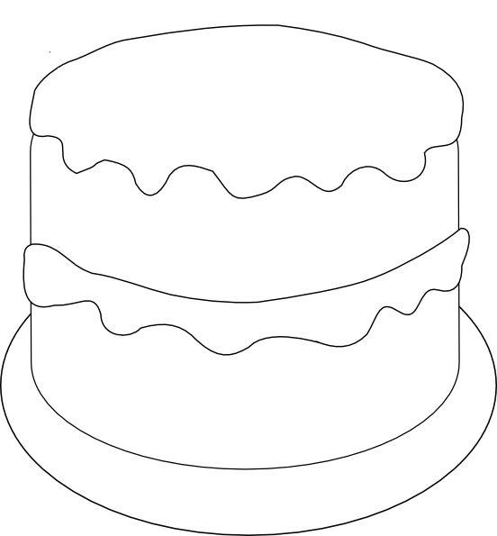 Birthday Cake Outline Template Templates Cake