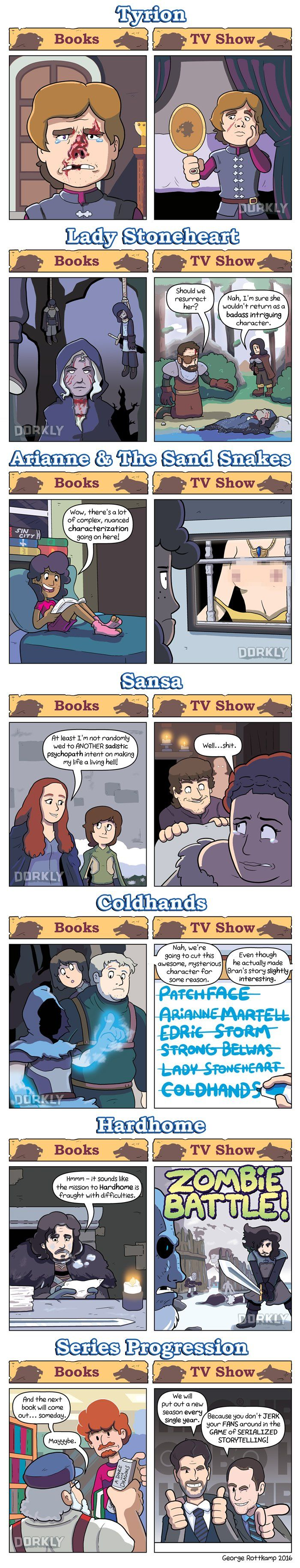 Game of Thrones: Books vs. Show comic full