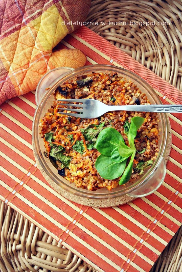 Moje Dietetyczne Fanaberie: Łatwa zapiekanka z kaszy gryczanej