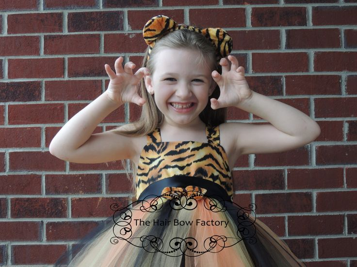The Hair Bow Factory Tiger Halloween Costume Tutu Dress Size 12-24 Months to Size 14 by thehairbowfactory on Etsy https://www.etsy.com/listing/233749299/the-hair-bow-factory-tiger-halloween
