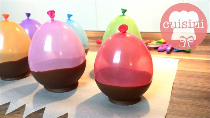 Schokoschalen mit Ballons selber machen | Hack | How To Make Chocolate B...