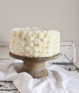 "I had no idea what to call this cake... and after much thought frilly cake to mind.  I thought ""frilly"" seem to vague, so I looked it up in the thesaurus, hoping to find a better word.  But then, listed right below the synonyms for frilly were the antonyms.  And they were: plain, simple,"