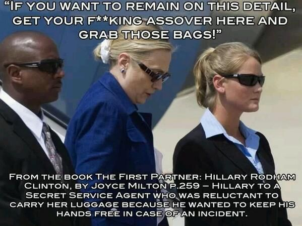 Hillary Clinton. A friend of mine worked in the White House when Clinton was in power.  He said that Bill was not a good President but a nice guy but that Hillary was a total bitch.  I can see he was telling the truth.