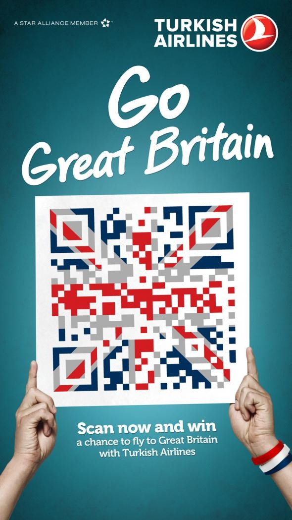 18 best qr poster images on pinterest qr codes posters and ads the print ad titled turkish airlines qr flags great britain was done by mccann istanbul advertising agency for turkish airlines in turkey sciox Choice Image