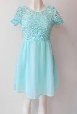 #vestido color #azul cielo para una ocasión #especial
